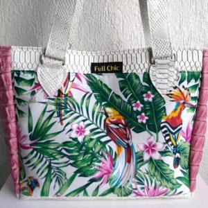 sac cabas tropical rose