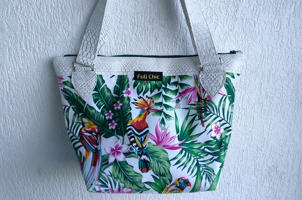 sac tropical blanc d