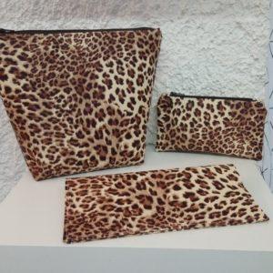 trio petite maroquinerie leopard