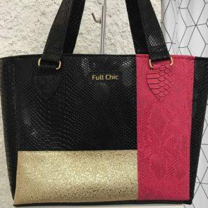 sac noir fuchsia dore